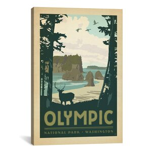 Anderson Design Group Asa National Park Olympic Graphic Art on Wrapped Canvas by iCanvas