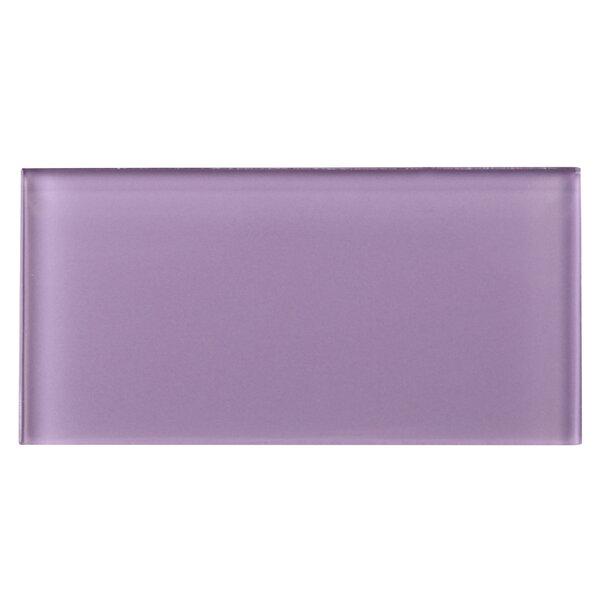 3 x 6 Glass Tile in Purple by Multile