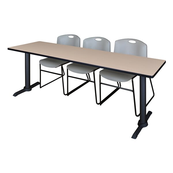 84 W Hendrix Training Table with Chairs by Symple Stuff