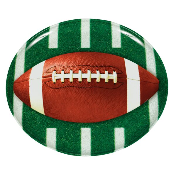 Football Platter (Set of 2) by Amscan