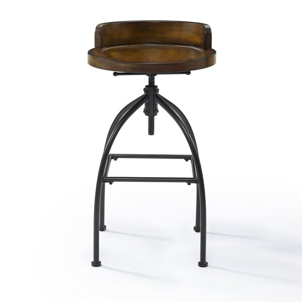 Delacruz Adjustable Height Bar Stool by Williston Forge