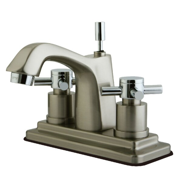 Concord Centerset Bathroom Faucet with Brass Pop-Up Drain by Kingston Brass Kingston Brass