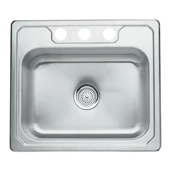 Middleton 25 L x 22 W Self Rimming Single Bowl Kitchen Sink by Sterling by Kohler