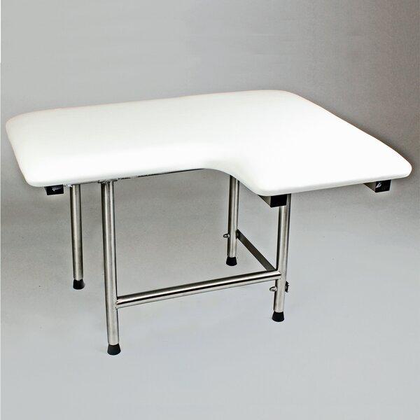 Left Hand Padded Shower Seat by CSI Bathware