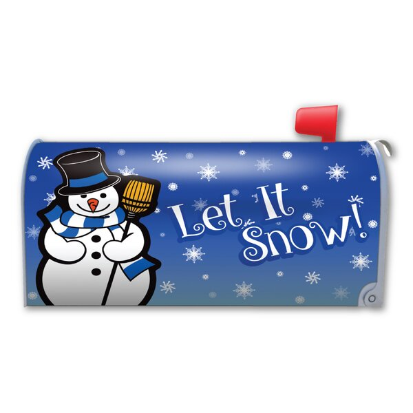 Let It Snow! Magnetic Mailbox Cover by Magnet America