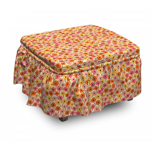 Review Botanical Nature Bloom Ottoman Slipcover (Set Of 2)