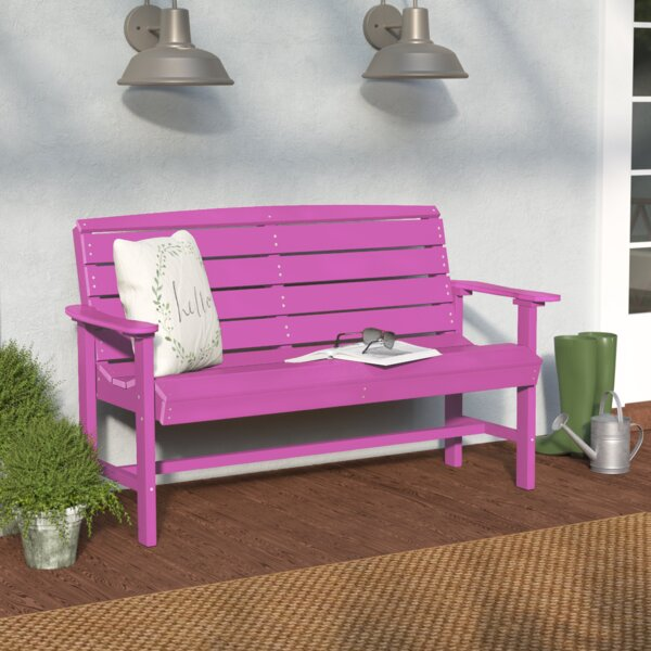 Sawyerville Manufactured Wood Garden Bench by Laurel Foundry Modern Farmhouse