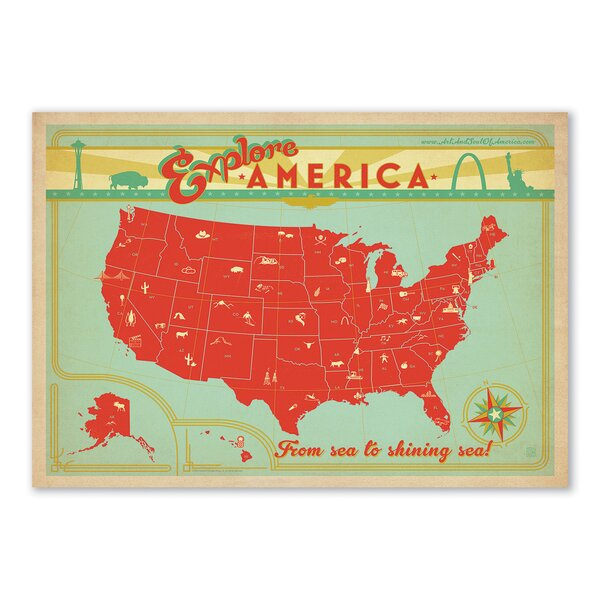 Explore America Vintage Advertisement by East Urban Home