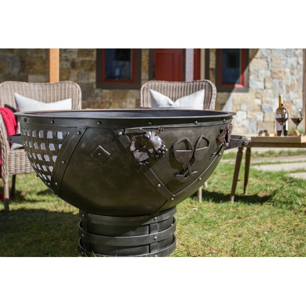 Dream Weaver Steel Fire Pit by Cedar Creek Sculptures
