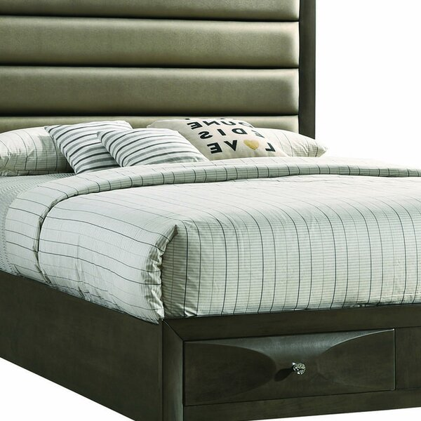 New Canaan Wooden Upholstered Storage Standard Bed by Foundry Select