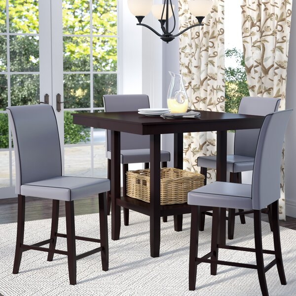 Flynn 5 Piece Counter Height Dining Set by Gracie Oaks