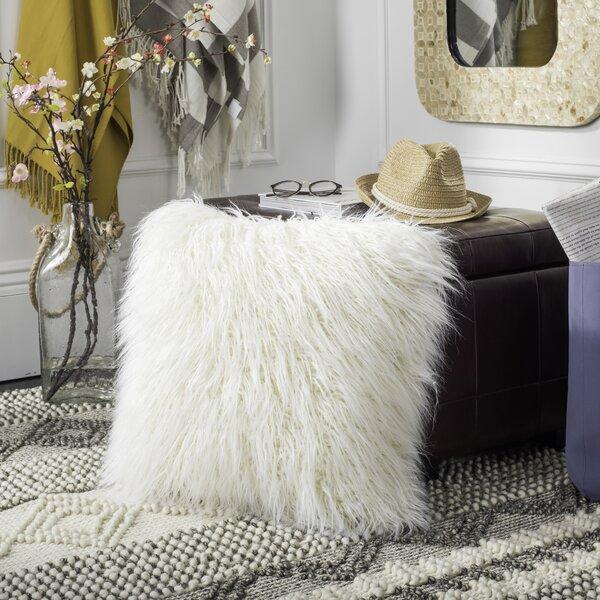 Sandee Faux Flokati Fur Throw Pillow by Everly Quinn