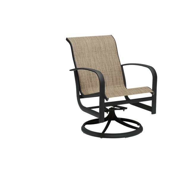 Fremont Sling Rocker Swivel Patio Dining Chair by Woodard
