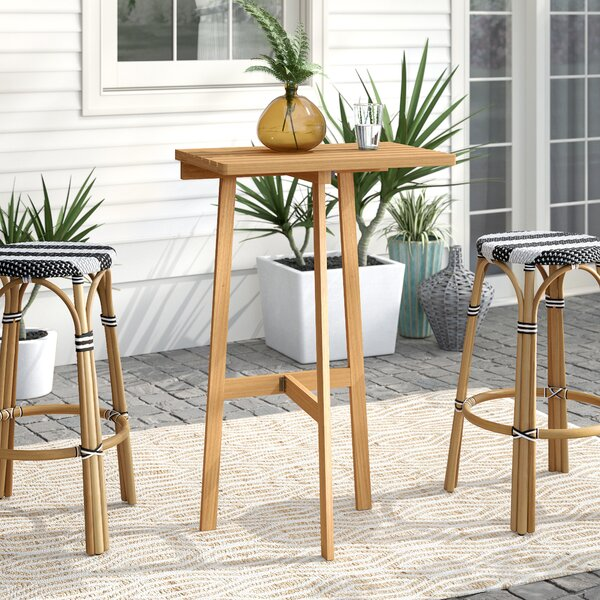 Ricci Folding Solid Wood Balcony Table by Highland Dunes