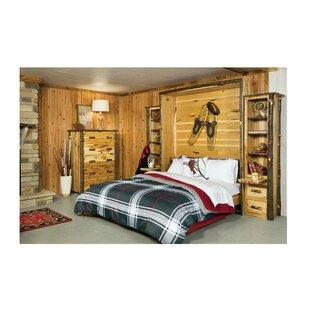 Rabago Hickory Queen Murphy Bed by Loon Peak