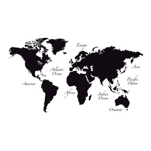 Large world map wall decal wayfair world map wall decal gumiabroncs Gallery