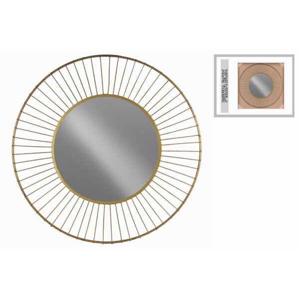 Fong Metal Wall Mirror with Wheel Design Frame by Brayden Studio