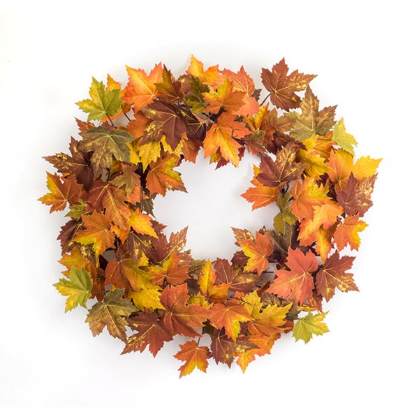 Maple Leaf 26 Polyester Wreath by The Holiday Aisle