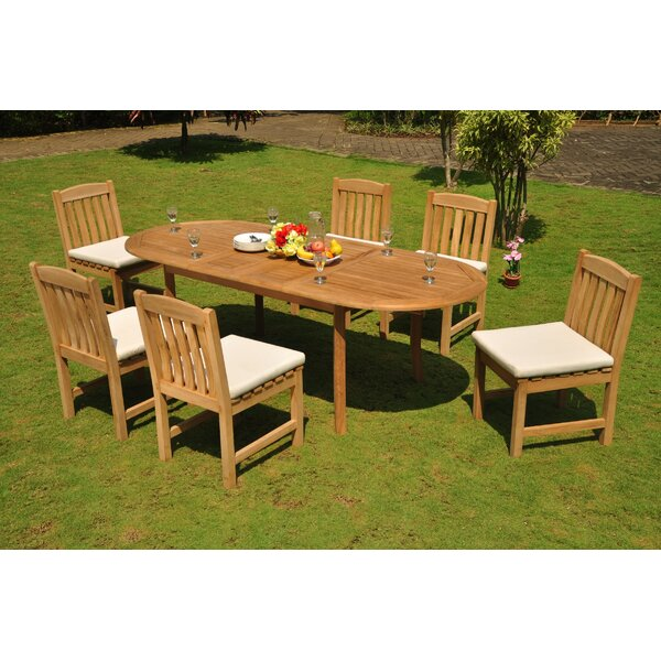 Rizal 7 Piece Teak Dining Set by Rosecliff Heights