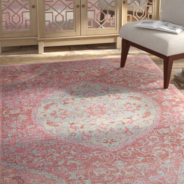 Chauncey Pink Area Rug by Bungalow Rose