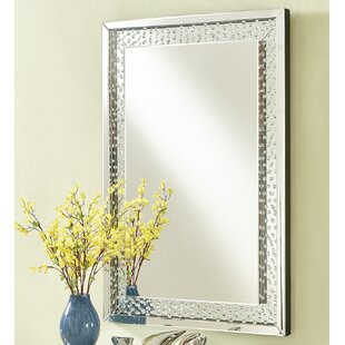 Latitude Run Wheless Contemporary Crystal Accent Mirror
