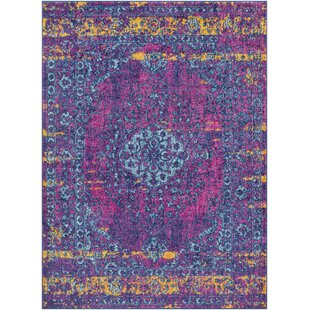 Find the perfect Almonte Distressed Pink/Teal Area Rug By Bungalow Rose