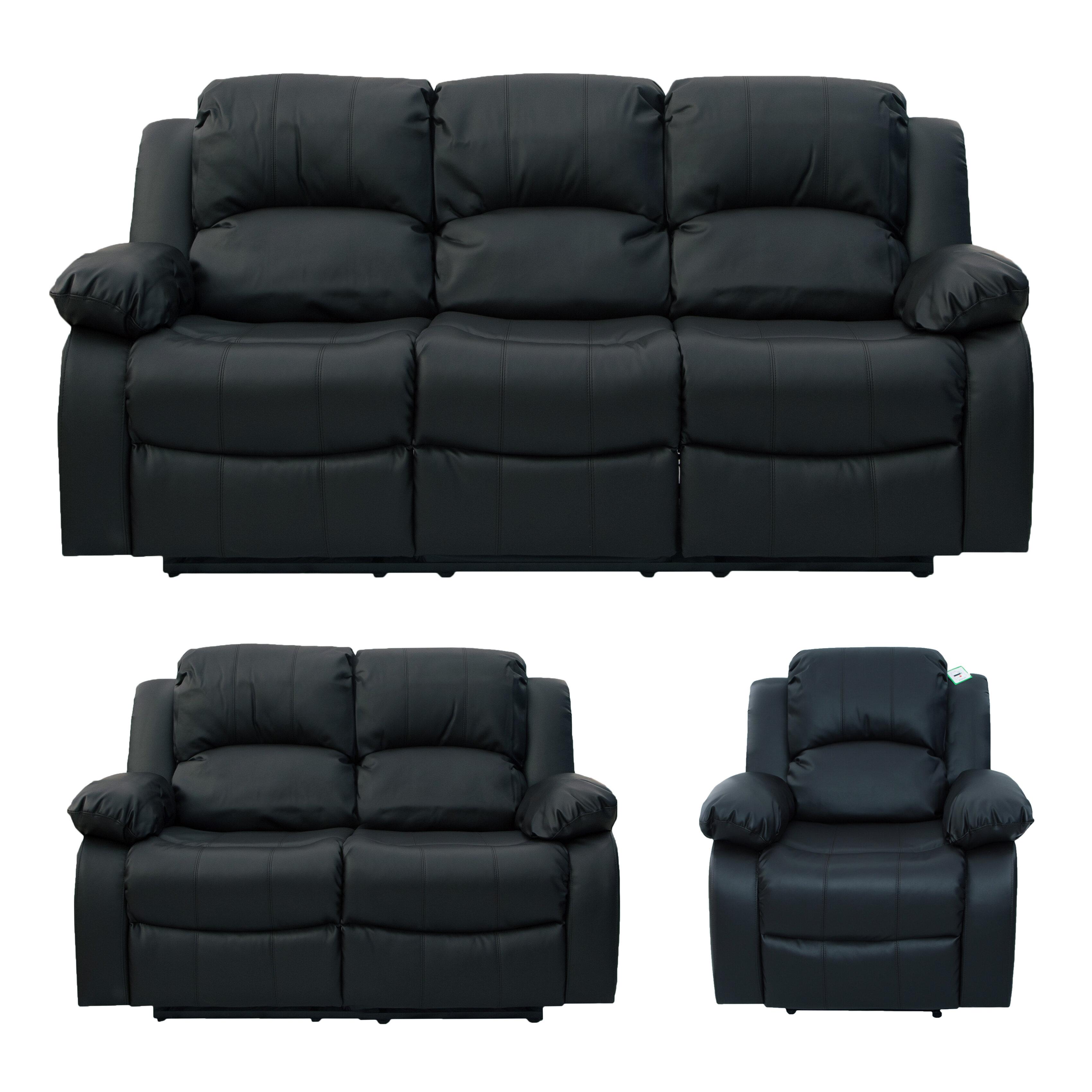 Kenworthy 3 Piece Reclining Sofa Set