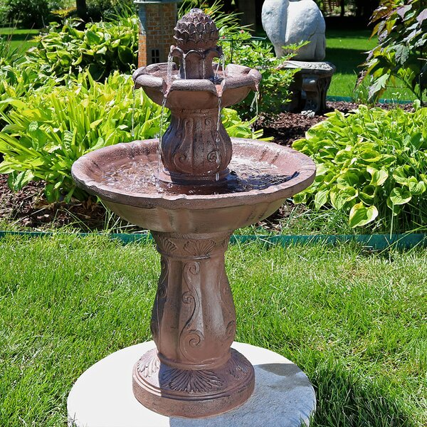 Fiberglass Clover Blossom Cascading 2-Tier Water Fountain by Wildon Home ®