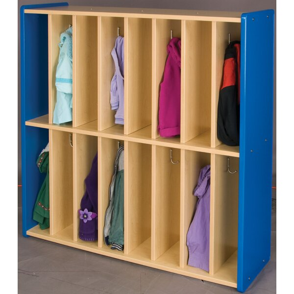2000 Series 2 Tier 8 Wide Coat Locker by TotMate