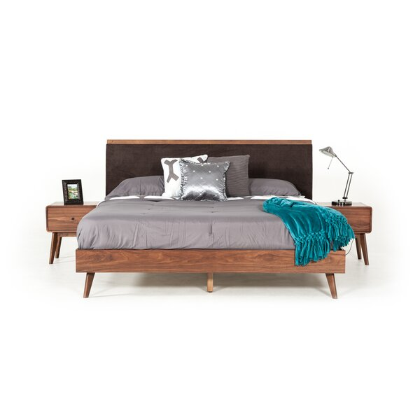 Tanya Mid-Century Upholstered Bed by Corrigan Studio