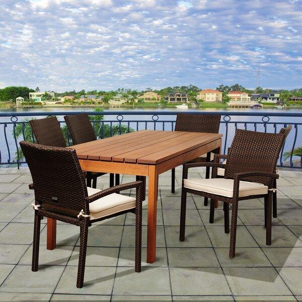 Fargo International Home Outdoor 7 Piece Dining Set with Cushions Bayou Breeze W002481877