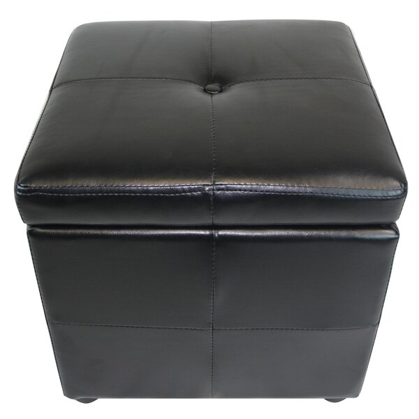 Classic Leather Storage Ottoman by NOYA USA