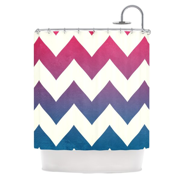 Catherine McDonald Fade to Chevron Shower Curtain by East Urban Home