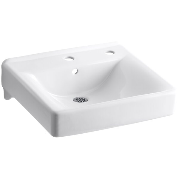 Soho Ceramic 20 Wall Mount Bathroom Sink with Overflow by Kohler