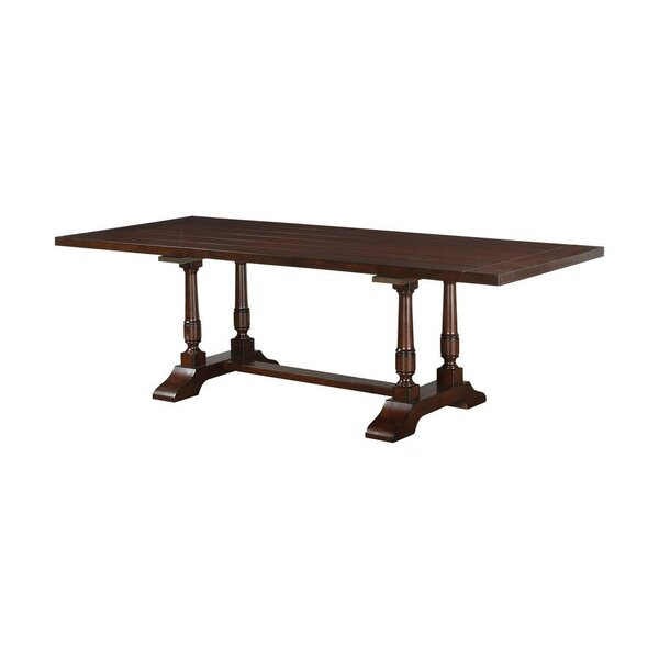 Enprise Wooden Trestle Base Extendable Dining Table by Alcott Hill