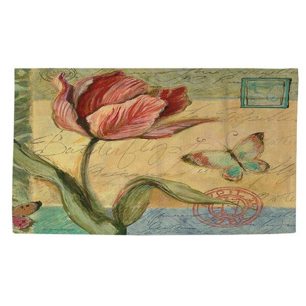 Sketchbook Floral Tulip Area Rug by Manual Woodworkers & Weavers
