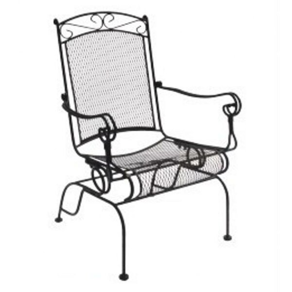 Charleston Wrought Iron High Back Rocking Chair (Set of 2) by DC America