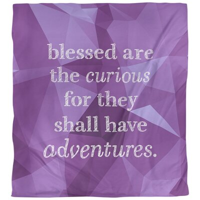 Curiosity Inspirational Quote Single Duvet Cover East Urban Home Size King Duvet Cover Color Amethyst Shefinds