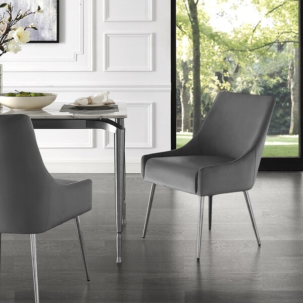 Bluffton Upholstered Dining Chair (Set Of 2) By Everly Quinn Savings