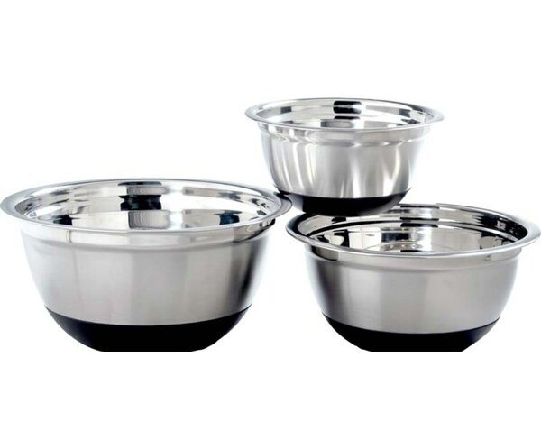 Anti Skid 3 Piece Mixing Bowl Set by GARIAN