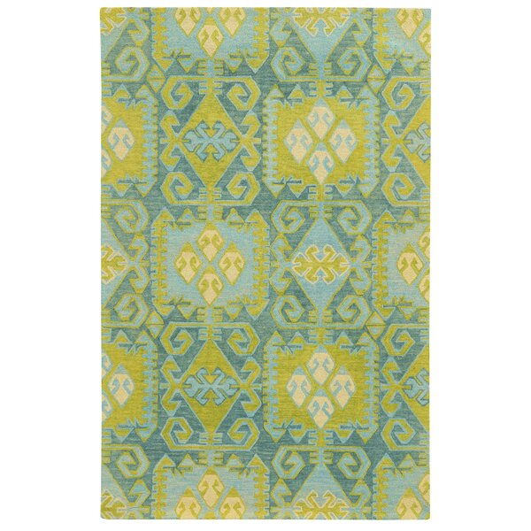 Tommy Bahama Jamison Blue / Green Geometric Rug by Tommy Bahama Home