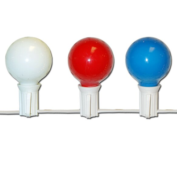 10 Light Patriotic Globe Set by Penn Distributing