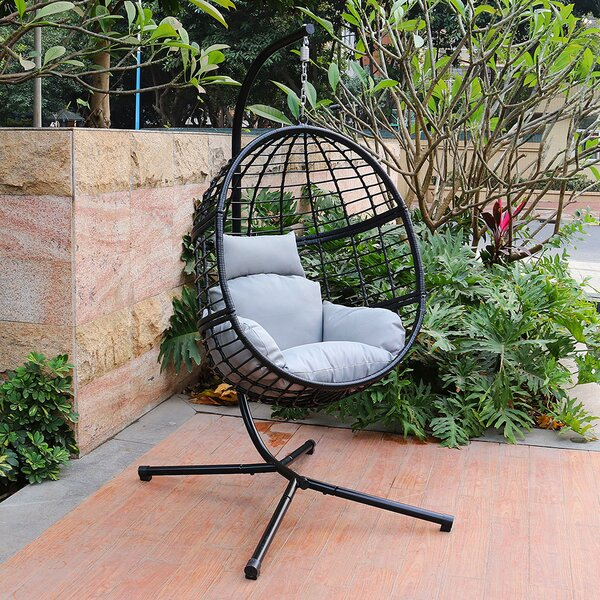 Jaylyn Swing Chair with Stand by Bayou Breeze Bayou Breeze