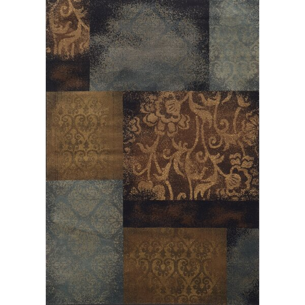 Matteson Blue/Brown Area Rug by Red Barrel Studio