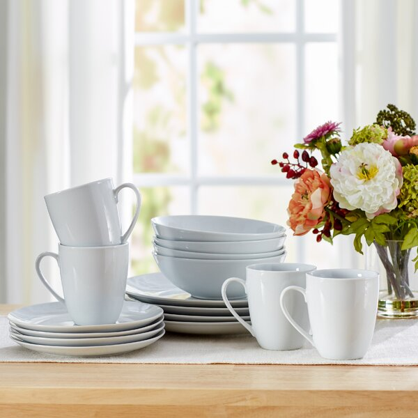 Tillman 16 Piece Porcelain Dinnerware Set, Service for 4 by Ebern Designs