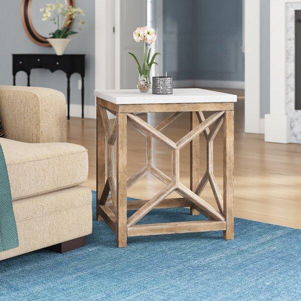 Niemann Stone End Table By Brayden Studio®