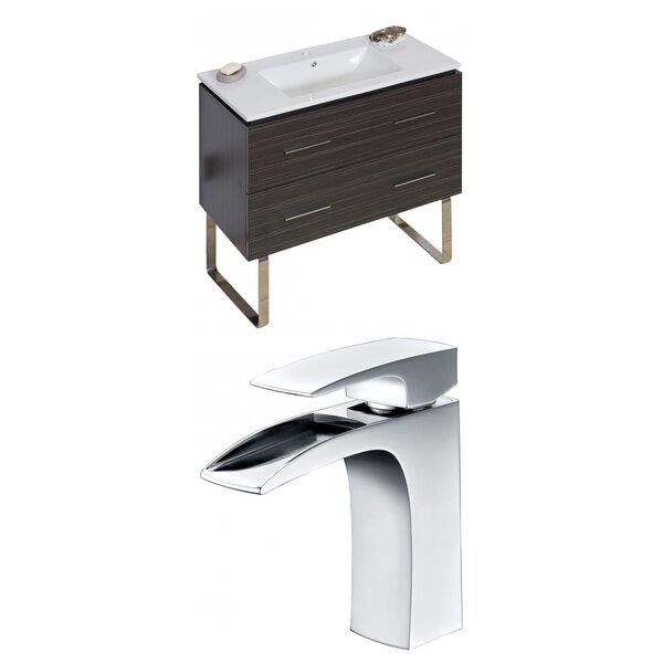 Kyra 36 Rectangle Wood Single Bathroom Vanity Set by Orren Ellis
