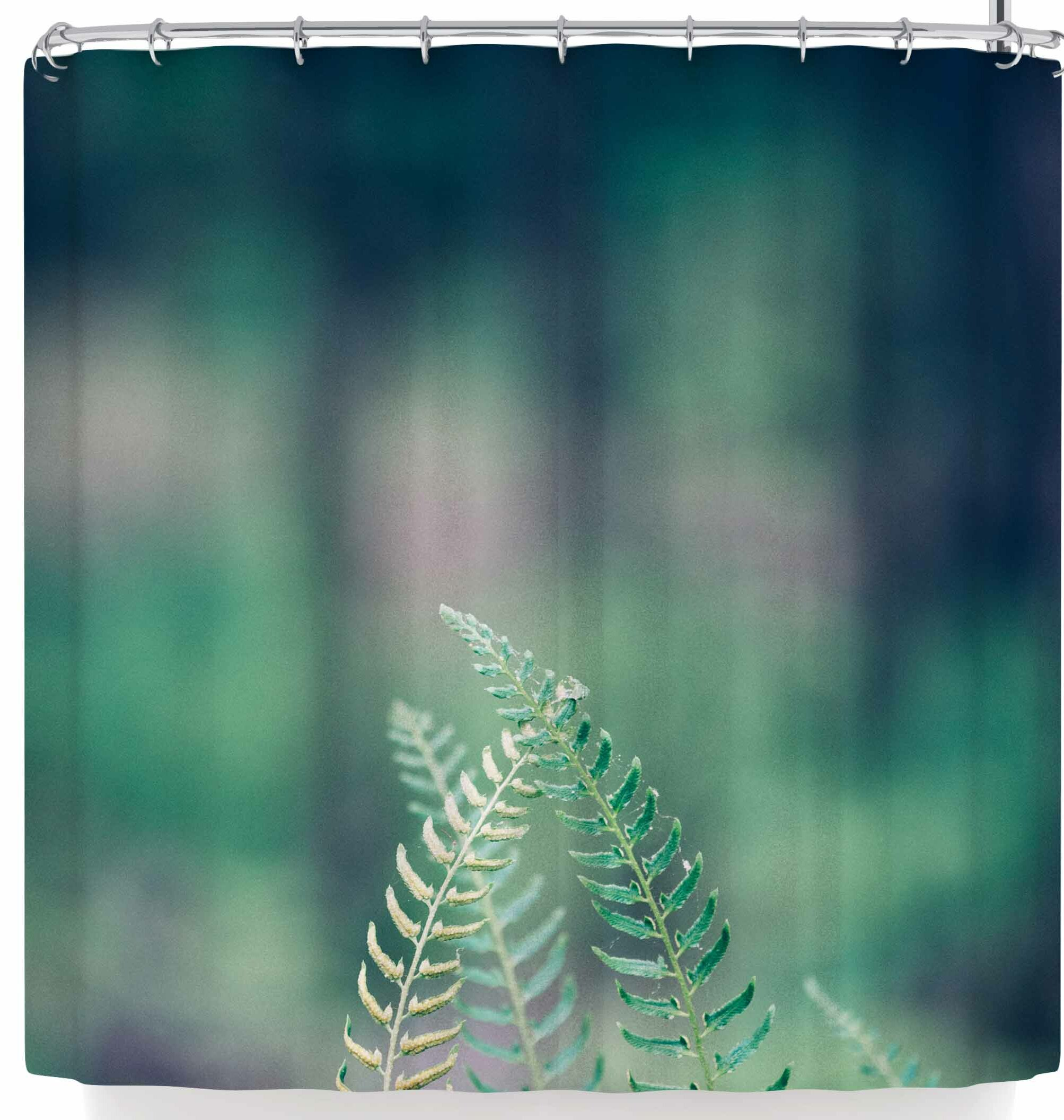 East Urban Home Ann Barnes Forest Ferns Shower Curtain