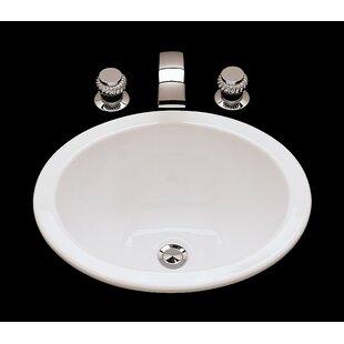 Suzanne Ceramic Circular Drop-In Bathroom Sink with Overflow ByBates & Bates