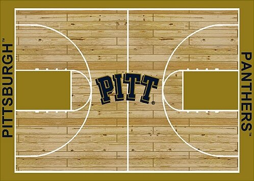 NCAA College Home Court Pittsburgh Novelty Rug by My Team by Milliken